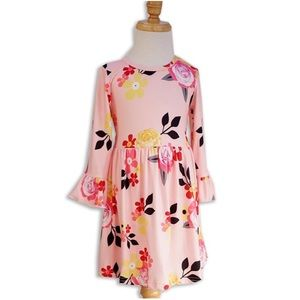 Other - Little Girls Pink Floral Dresses